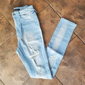 NWT light wash high waist denim jeans